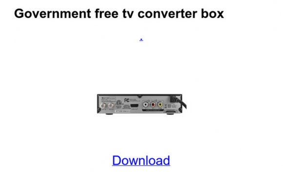 Government free tv converter