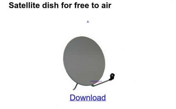 Satellite dish for free to air